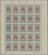 SCADTA - Ausgaben Für Kolumbien: 1928, Registration Stamp 20c. Grey, Lot Of 2.050 Stamps Within 82 ( - Kolumbien