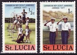 SAINTE LUCIE  1977  -  Y&T  418  Et 419 -  Jamboree Scout - NEUFS** - St.Lucie (1979-...)