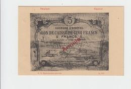 ENSIVAL 1914  - BON DE CAISSE DE 5 FRANC SUR CPA  - VIERGE - België