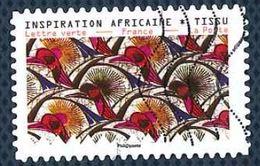 France 2019 Oblitéré Used Tissus Motifs Nature Inspiration Africaine Timbre 7 - France