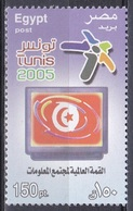Ägypten Egypt 2005 Kommunikation Communication Informationsgesellschaft ITU UIT WSIS Tunis, Mi. 2269 ** - Unused Stamps