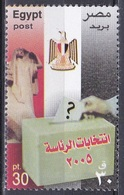 Ägypten Egypt 2005 Staatswesen Parlamentswahlen Parlament Parliament Wahlen Elections Fahnen Flaggen Flags, Mi. 2272 ** - Egypt