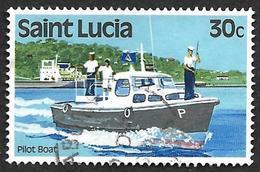 SAINTE LUCIE  1980  -  Y&T  499 -  Bateau Pilote - Oblitéré - St.Lucie (1979-...)