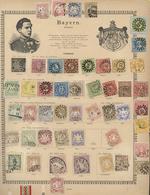 Alle Welt: THE LAUENBURG COLLECTION - All World 1840/1890 (ca.), Extemely Impressive And High-class - Briefmarken
