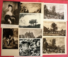 LOT OF 9 ARTIST CPA - 5 - 99 Postcards