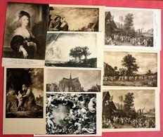 LOT OF 9 ARTIST CPA - 5 - 99 Karten