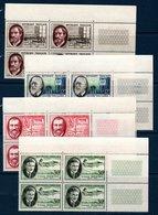 FR 1957  Savants Et Ingénieurs  N° YT 1095-1098  ** MNH En Bloc De 4 Coin De Feuille - France