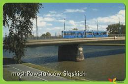 Voyo POLAND CRACOW Monthly Ticket  BRIDGE POWSTANCOW SL. 2002 Plastic Card - Week-en Maandabonnementen
