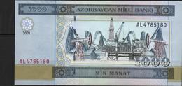 B7 - AZERBAÏDJAN 1000 Manat 2001 - Arzerbaiyán