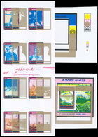 Naher Osten: 1967-1983: Large Assortment Of Artworks/drawings + Overlays (unique!), Final Artworks, - Briefmarken