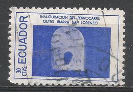 Ecuador 1957. Scott #619c (U) Railroad Scene * - Equateur