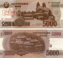 North Korea. Commemorative Banknote. 5000 Won2013. UNC. Sample - Corée Du Nord