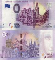 Banknote 0 EURO. 2018. UNC. Belgium. Bruges. Historical Center - EURO
