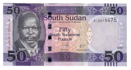 South Sudan 50 Pounds 2017 UNC - Sudan