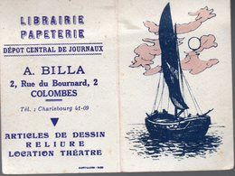 Colombes (92 Hauts De Seine) Calendrier 1959  A BILLA Librairie Papeterie (PPP16927) - Calendriers