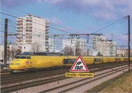 TGV La Poste N°953, Au Vert-de-Maisons (94) - - Trains