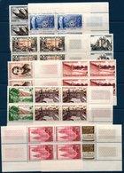 FR 1956/1957  10 Blocs De 4 Coin De Feuilles De Timbres      ** MNH Entre N°YT 1093 Et N°1139 - France