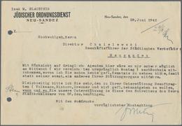 Thematik: Judaika / Judaism: 1942, GHETTO NEU SANDEZ: Jüdische Werkstätten In Neu Sandez, Konvolut M - Briefmarken