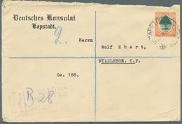 Thematik: Konsulatspost / Consular Mail: 1914/1958, Post Von Deutschen Konsulaten In Südafrika, Ägyp - Briefmarken