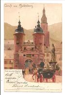 Heidelberg.Thor Der Alten Brücke.Könings Künstlerkarte No 10 - Heidelberg