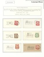 Thematik: Leipziger Messe / Leipzig Fair: 1820 - 2016, Sammlung In Zwei Bänden: LEIPZIGER TAGESSTEMP - Briefmarken
