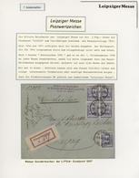 Thematik: Leipziger Messe / Leipzig Fair: 1897 - 2016, Umfangreiche Zweibändige Sammlung Zu Den Mess - Briefmarken