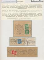 Thematik: Leipziger Messe / Leipzig Fair: 1936 - 2010 (ca.), 1 Album Mit Maschinen-Serien-Stempeln D - Briefmarken