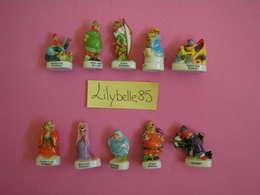 Série Complète De 10 Feves DISNEY En Porcelaine ROBIN DES BOIS 2003 ( Feve Miniature Figurine ) - Disney