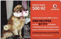 Tchéquie- Czechia, Recharge Vodafine Card, 500 Kč, Dog, Expires: 10. 02. 2013 - Tchéquie