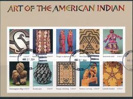 USA Mi.Nr. 3853-3862 Kunst Der Indianerstämme  - Folienbogen -used - Blocs-feuillets