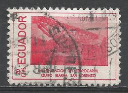 Ecuador 1957. Scott #619d (U) Railroad Scene * - Equateur