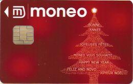 CARTE A PUCE CHIP CARD MONEO CARTE JOYEUX NOEL POUR COLLECTIONNEUR QUELQUES MINI RAYURES - Frankrijk