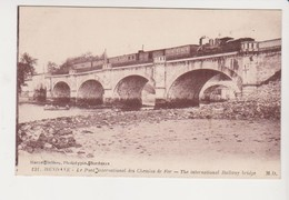 26767 Hendaye France Pont International Chemins Fer -131 M Delboy-  Train Locomotive - Ouvrages D'Art