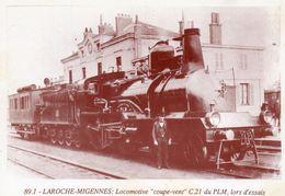 """- MIGENNES - Locomotive """"coupe Vent"""" C.21 Du PLM Lors D'essais  -17516- - Migennes"""