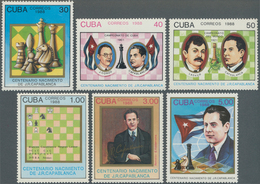 Thematik: Spiele-Schach / Games-chess: 1988, CUBA: 100th Birthday Of Chess Grandmaster José Raúl Cap - Schach