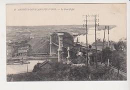 26768 Andresy Conflans Fin D'oise France Pont Eiffel Chemins Fer -1l' Abeille-  Train Locomotive - Opere D'Arte