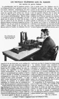 """LES NOUVEAUX TELEPHONES SANS FIL  """" MARCONI """" Des NAVIRES DE GUERRE ITALIENS  1915 - Technical"""