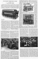 """LES GRANDES INDUSTRIES DU NORD """" LES INDUSTRIES TEXTILES """" """"LE TISSAGE-LA TEINTURE-LES APPRETS """"  1915 - Picardie - Nord-Pas-de-Calais"""