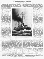 LE DERNIER MOT Du CUIRASSE La Propulsion Electrique 1915 - Bateaux