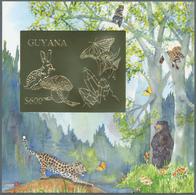 Thematik: Umweltschutz / Environment Protection: 1993, Guyana. Lot Of 100 GOLD Blocks With $600 Stam - Umweltschutz Und Klima