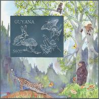 Thematik: Umweltschutz / Environment Protection: 1993, Guyana. Lot Of 100 SILVER Blocks With $600 St - Umweltschutz Und Klima