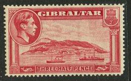 Gibralter 1938 1 1/2p Rock Of Gibralter Issue #109  MH - Gibraltar
