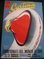 Cortina 1960 Campionati Mondiali BOB Timbro E Erinnofilo Sul Dietro - Sci