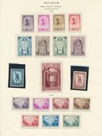 Belgien: 1932, Lot Of Three Better Mint Sets: Kardinal Mercier, Infantry Monument, Tuberculosis Figh - Belgique