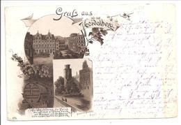 Heidelberg. Litho 1891. 3 Bilder - Heidelberg