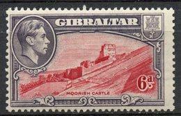Gibralter 1938 6p Castle Issue #113  MH - Gibraltar