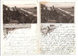 Heidelberg. Litho 1892. Von Der Terrasse. 2 Karten - Heidelberg