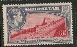 Gibralter 1938 6p Castle Issue #113b  MH  Perf 13.5 - Gibraltar