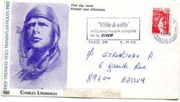 """- Enveloppe """"Premier Jour D'émission"""" Charles Lindbergh  -17531- - Sonstige"""
