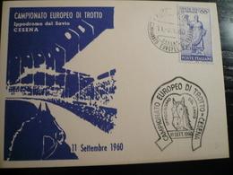 Cesena 1960 Campionato Europeo Trotto Numerata - Ippica